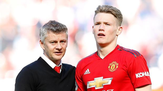 Scott McTominay, right, believes Manchester United's young stars can make a huge impact (Martin Rickett/PA)