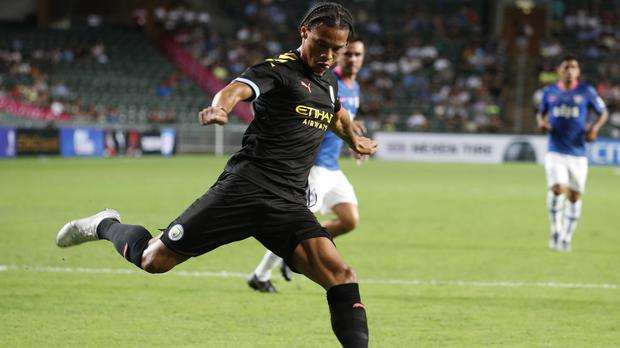 Leroy Sane was on target twice against Kitchee (Vincent Yu/AP)