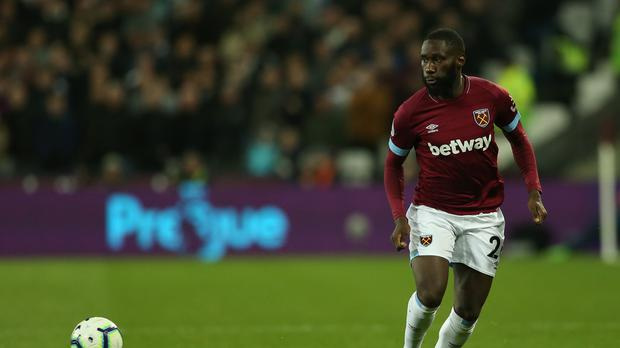 Arthur Masuaku has signed a new contract at West Ham (Paul Harding/PA)
