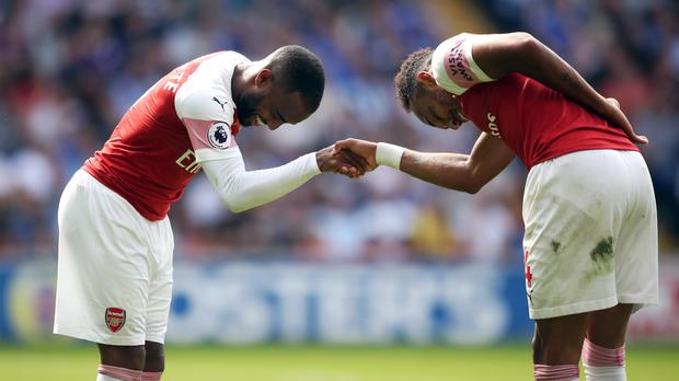 Pierre-Emerick Aubameyang (right) and Alexandre Lacazette (left) are two of Arsenal's most expensive signings. (Nick Potts/PA)
