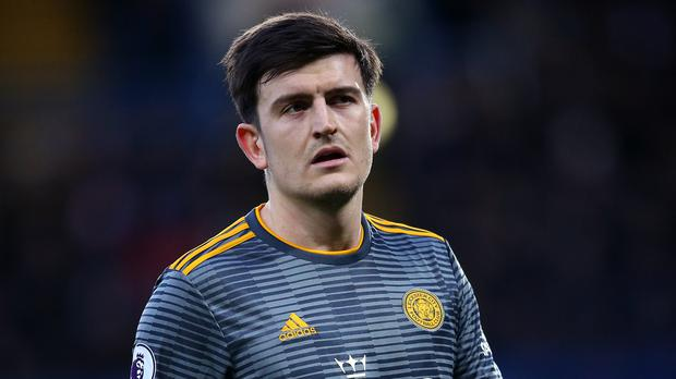 Maguire held talks with Leicester manager Brendan Rodgers yesterday morning. Photo: Nigel French/PA