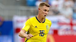 Sweden international full-back Emil Krafth has joined Newcastle from French club Amiens (Aaron Chown/PA)