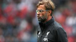 "Jurgen Klopp wants his teams to be ""angry and greedy"" this season (Jane Barlow/PA)"