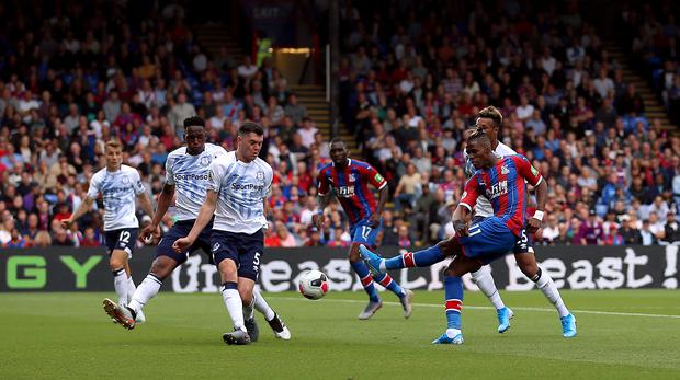 Wilfried Zaha could not make a goalscoring impact off the bench (Nigel French/PA)