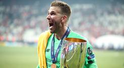 Adrian injured his ankle on Wednesday after the Super Cup win (Nick Potts/PA)