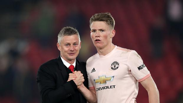 Scott McTominay (right) says Manchester United's youngsters are determined to impress manager Old Gunnar Solskjaer (John Walton/PA)
