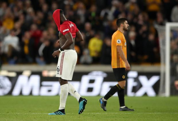 Paul Pogba was subjected to racist abuse on social media after missing a penalty against Wolves. (Nick Potts/PA)