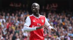 Nicolas Pepe looks set to be given his first start for Arsenal (Yui Mok/PA)