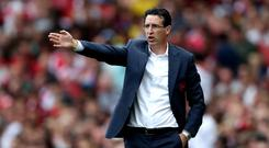 Unai Emery wants to see an improvement against the top six (Nick Potts/PA)