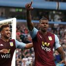 Aston Villa's Wesley (right) celebrates his opener in the 2-0 win over Everton. (Nick Potts/PA)