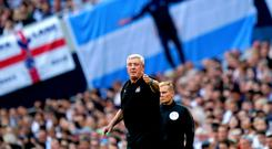 Newcastle manager Steve Bruce was delighted after his side's first win of the season at Tottenham (John Walton/PA)