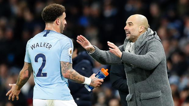 Pep Guardiola has backed Kyle Walker after he was left out of the England squad (Martin Rickett/PA)