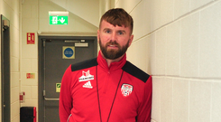 Youth coach Paddy McCourt pictured at the Brandywell. Photo: Derry City FC