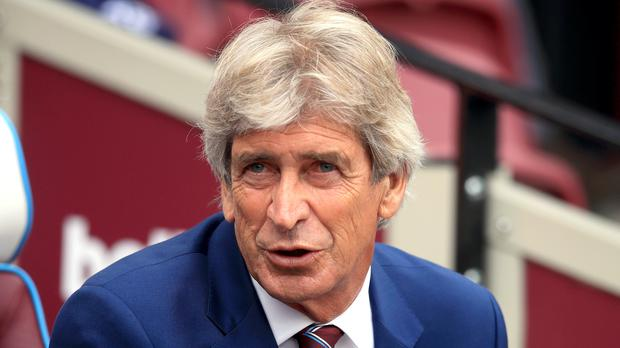 Manuel Pellegrini was pleased with West Ham's style of play in their 2-0 win over Norwich (Adam Davy/PA)