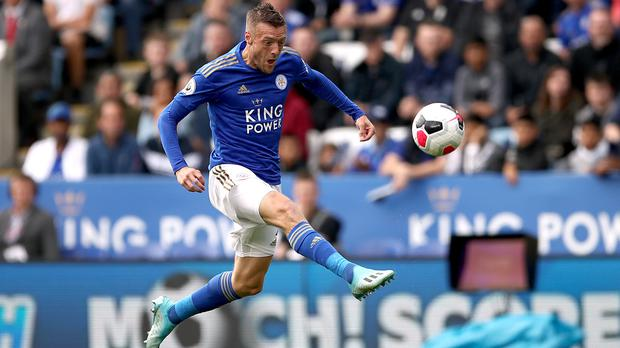 Leicester's Jamie Vardy scored twice in the 3-1 win over Bournemouth on Saturday (Tim Goode/PA)
