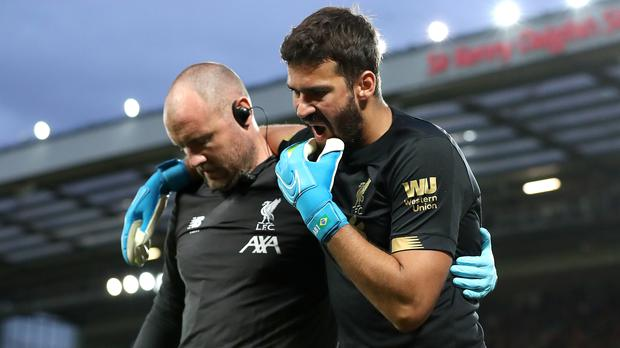 Alisson was injured during the first game of the season (Martin Rickett/PA)