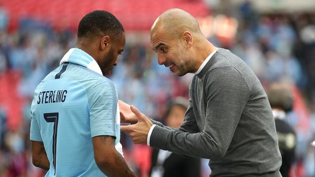 Pep Guardiola sees a huge future for Raheem Sterling (Nick Potts/PA)