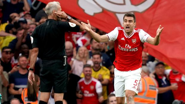 Sokratis Papastathopoulos made a costly mistake at Watford (John Walton/PA)