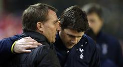 Leicester manager Brendan Rodgers is the bookies favourites to replace Mauricio Pochettino if he leaves Tottenham (Peter Byrne/PA).