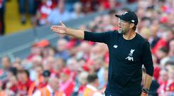 Liverpool manager Jurgen Klopp insists he has not prioritised attack of defence this season (Anthony Devlin/PA)