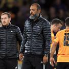 Wolves manager Nuno Espirito Santo will stick by his players (Mike Egerton/PA)