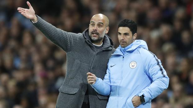 Guardiola believes Arteta could succeed him (Martin Rickett/PA)
