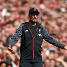 Liverpool manager Jurgen Klopp wants his side to turn around their poor away form against top-six rivals (Nigel French/PA)