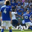 Leicester's James Maddison scores the winner against Tottenham (Joe Giddens/PA)