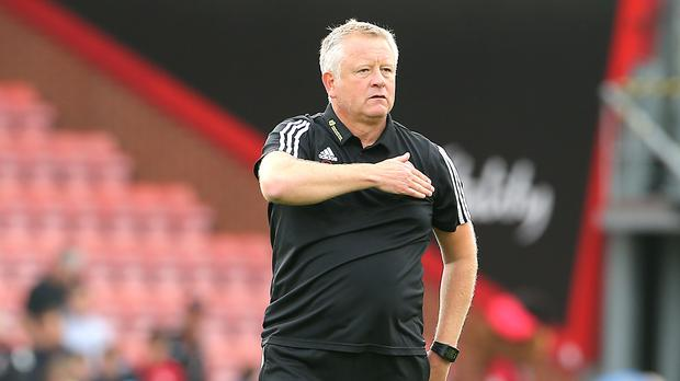 Sheffield United manager Chris Wilder was happy to take three points from Everton despite not playing well (Mark Kerton/PA)