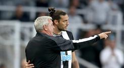 Newcastle head coach Steve Bruce is hoping Andy Carroll (right) can help to bring a spark to his team (Owen Humphreys/PA)