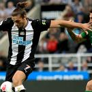 Andy Carroll (left) back in action for Newcastle against Brighton (Owen Humphreys/PA)