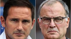 Frank Lampard and Marcelo Bielsa clashed in the Championship last season (David Davies/Tim Goode/PA).