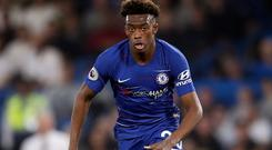 Callum Hudson-Odoi made his Chelsea return in the midweek win over Grimsby (Adam Davy/PA)