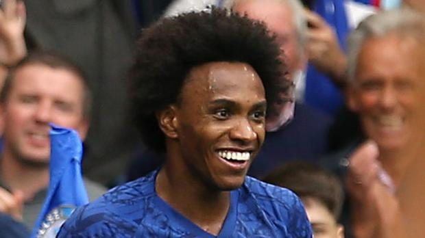 Willian killed Brighton off with the second goal (Steven Paston/PA)