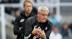 Newcastle head coach Steve Bruce finds himself under pressure just eight games into his reign (Owen Humphreys/PA)