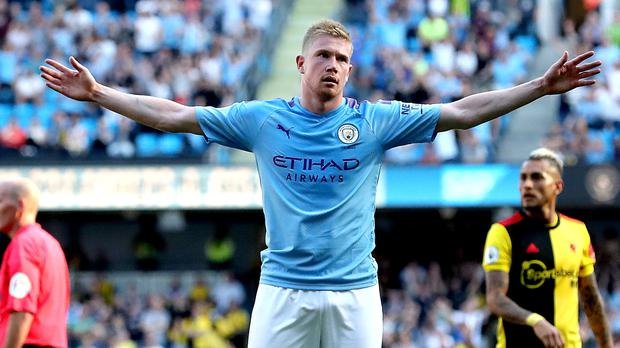 Kevin De Bruyne is suffering with a groin injury (Martin Rickett/PA)