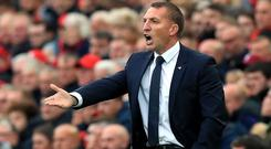 Leicester manager Brendan Rodgers felt his side deserved a point against Liverpool (Peter Byrne/PA)