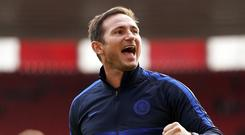 Frank Lampard has made the most of Chelsea's young players with the club under a transfer ban (John Walton/PA).