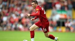 Liverpool's Andy Robertson is wary of a motivated Manchester United (Nigel French/PA)