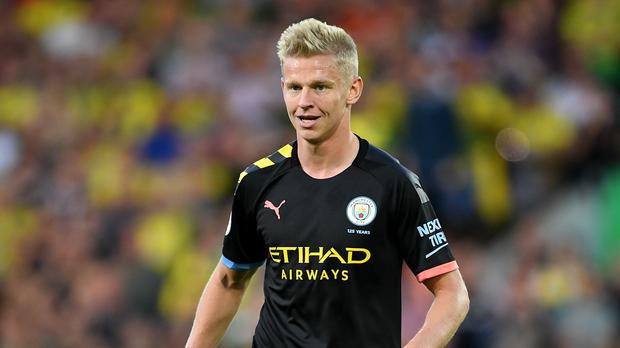Man City's Zinchenko out for 4 weeks following knee surgery