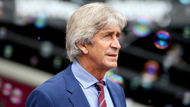 Manuel Pellegrini came under fire from West Ham fans on Saturday (Nigel French/PA)