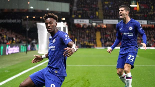 Tammy Abraham and Christian Pulisic scored the goals that earned them a win at Watford (John Walton/PA)