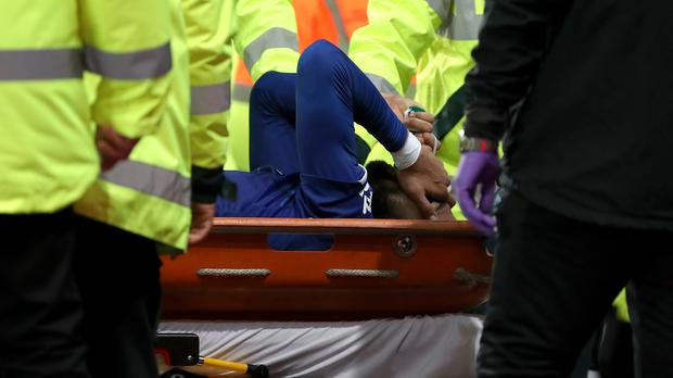 Andre Gomes faces a long period of rehabilitation after suffering a fracture dislocation of his ankle (Nick Potts/PA)