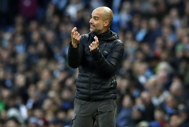 Manchester City manager Pep Guardiola will be desperate for a victory at Anfield on Sunday (Martin Rickett/PA)