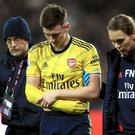 Arsenal's Kieran Tierney is set for a long absence (Adam Davy/PA)