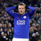 Jamie Vardy and Leicester's runs ended against Norwich (Nick Potts/PA)