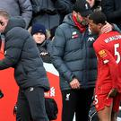 Liverpool midfielder Georginio Wijnaldum has given manager Jurgen Klopp another injury problem as his squad flies out to Qatar for the Club World Cup (Peter Byrne/PA)