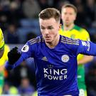 James Maddison could not help Leicester to a ninth straight win against Norwich (Nick Potts/PA)