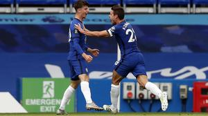 Mason Mount, left, starred in Chelsea's win (Matthew Childs/PA)