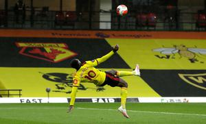 Welbeck's first Watford goal came in spectacular fashion (Matt Dunhan/Pool/PA)